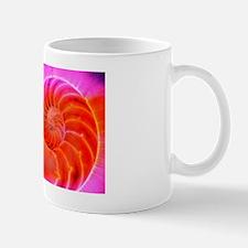 Nautilus shell, Kirlian photograph Mug