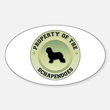 Schapendoes Property Oval Decal