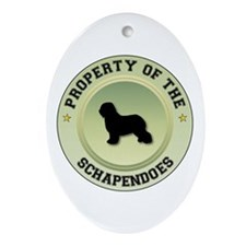 Schapendoes Property Oval Ornament