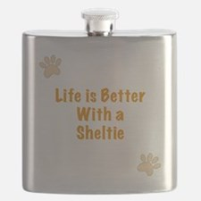 Life is better with a Sheltie Flask