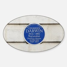 Charles Darwin commemorative plaque Decal