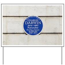 Charles Darwin commemorative plaque Yard Sign