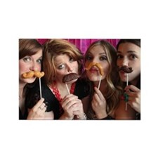 Candy mustaches Rectangle Magnet
