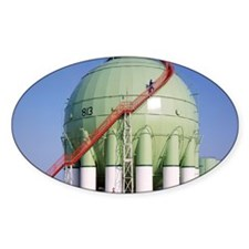 Oil refinery storage tank Decal
