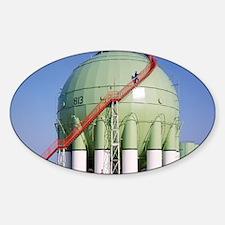 Oil refinery storage tank Decal