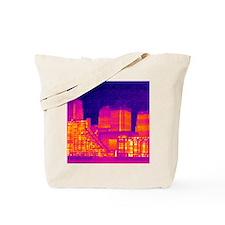 Canary Wharf, UK, thermogram Tote Bag