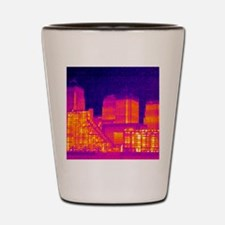 Canary Wharf, UK, thermogram Shot Glass