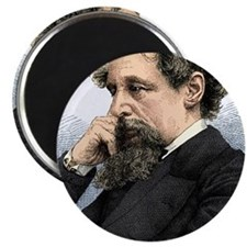 Charles Dickens, English author Magnet