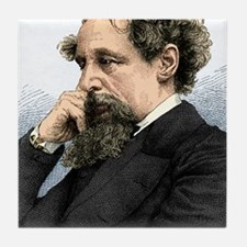 Charles Dickens, English author Tile Coaster