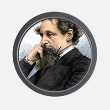 Charles Dickens, English author Wall Clock