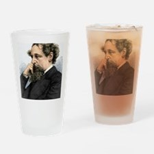 Charles Dickens, English author Drinking Glass