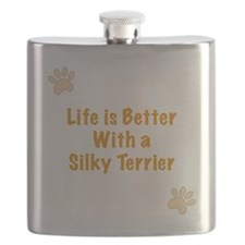 Life is better with a Silky Terrier Flask