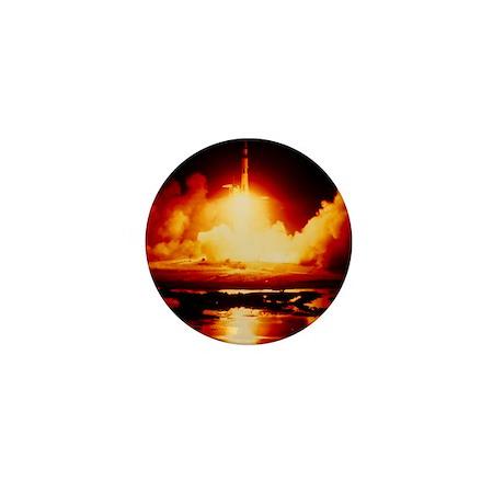 Night launch of Apollo 17 Mini Button