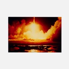 Night launch of Apollo 17 Rectangle Magnet