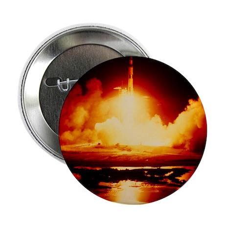 """Night launch of Apollo 17 2.25"""" Button"""
