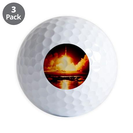 Night launch of Apollo 17 Golf Balls