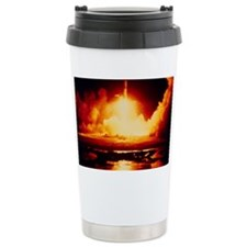 Night launch of Apollo 17 Travel Mug