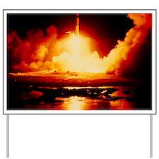 Night launch of Apollo 17 Yard Sign
