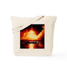 Night launch of Apollo 17 Tote Bag