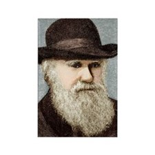 Charles Darwin, British naturalis Rectangle Magnet