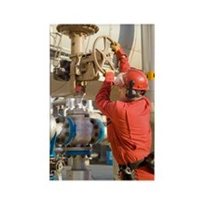 Oil refinery worker Rectangle Magnet