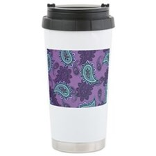 LARGE PURPLE PAISLEY Travel Mug