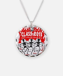 Class of 2013 Skeleton Grads Necklace