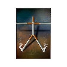 Cigarette addiction, conceptual i Rectangle Magnet