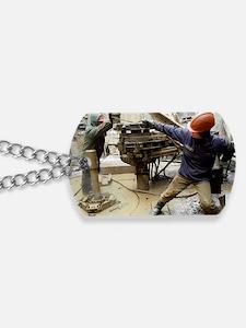 Oil drill operators Dog Tags