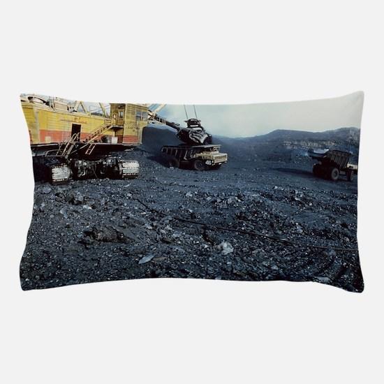 Open cast coal mining Pillow Case