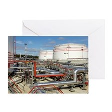 Oil pipelines and storage tanks Greeting Card