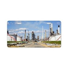 Oil refinery Aluminum License Plate