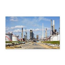 Oil refinery Rectangle Car Magnet