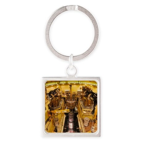 Nuclear reactor of Sizewell B powe Square Keychain