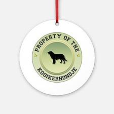 Kooikerhondje Property Ornament (Round)