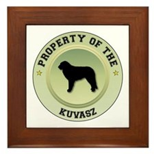 Kuvasz Property Framed Tile