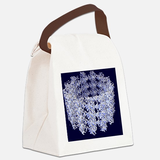 Cell microtubule structure Canvas Lunch Bag