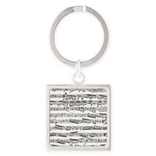 Music notes Square Keychain
