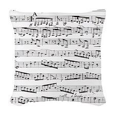 Music notes Woven Throw Pillow