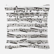 Music notes Woven Throw Pillow