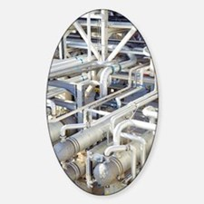 Oil refinery pipes Decal
