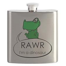 Rawr I'm a Dinosaur Flask
