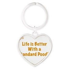 Life is better with a Standard Pood Heart Keychain