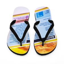 Nutrition label Flip Flops