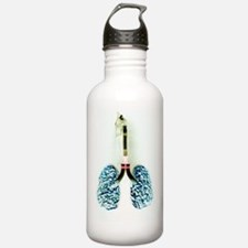 Cigarette filled lungs Water Bottle