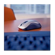 Optical computer mouse Tile Coaster