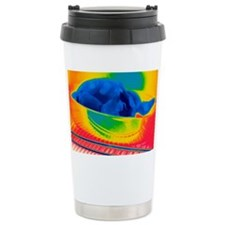 Chicken in an oven, thermogram Travel Mug