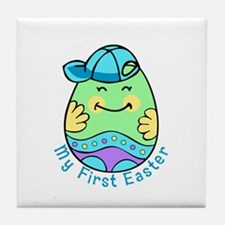 My First Easter Egg Boy Tile Coaster