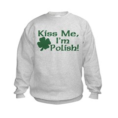 Kiss Me I'm Polish Sweatshirt