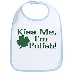 Kiss Me I'm Polish Bib